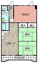 第一中央ビル[1201号室]の間取り