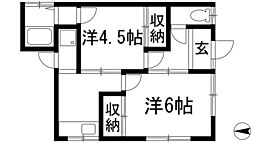山田文化[1階]の間取り