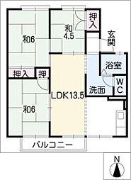 セジュール青雲B棟[1階]の間取り