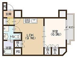 南堀江アパートメントグランデ[11階]の間取り