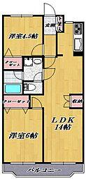 鷺沼パークサイドマンション[103号室号室]の間取り