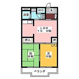 キャッスル丸ノ内[3階]の間取り