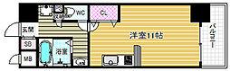 ラフォーレ東天満[6階]の間取り