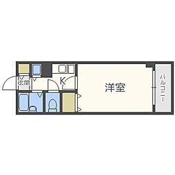プラトー東心斎橋[4階]の間取り