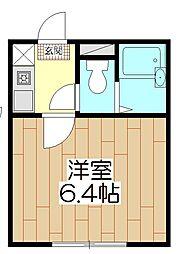 オペラシオンボォヌール竹の塚[104号室]の間取り