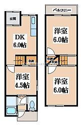 [テラスハウス] 大阪府大東市御供田4丁目 の賃貸【/】の間取り