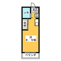 オゼットワールC[2階]の間取り