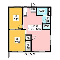 テラス南平台A・B[2階]の間取り