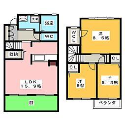 [テラスハウス] 愛知県名古屋市昭和区前山町2丁目 の賃貸【/】の間取り