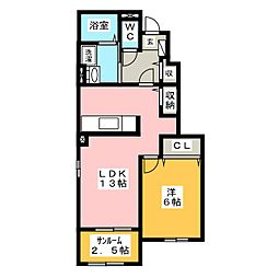 ラナハウス 30 II[1階]の間取り