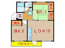 習志野台団地12街区3号棟[103号室]の間取り