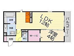 大阪府堺市西区鳳南町5丁の賃貸アパートの間取り