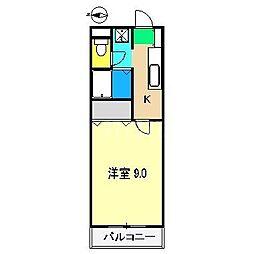 グランヴィーダ瀧[3階]の間取り