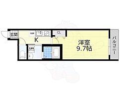 近鉄奈良線 河内花園駅 徒歩5分の賃貸アパート 1階1Kの間取り
