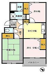 埼玉県新座市西堀2丁目の賃貸マンションの間取り
