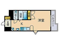 シャルマンローズ博多駅東[14階]の間取り