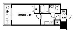 レジュールアッシュ大阪城ノルド[6階]の間取り