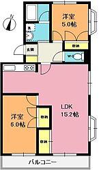 小川マンション[305号室]の間取り