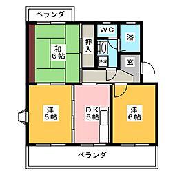 プラサ江尻東[2階]の間取り