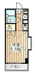 ユーコート本厚木[6階]の間取り