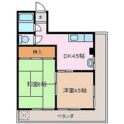 三重県四日市市諏訪栄町の賃貸マンションの間取り