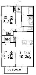 岡山県岡山市南区片岡丁目なしの賃貸アパートの間取り