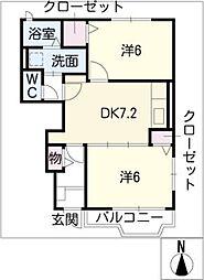 パークヒルズK E棟[1階]の間取り