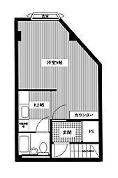 第一中尾ビル[4階]の間取り