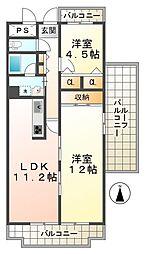 ルネ須磨[13階]の間取り