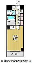 名古屋市営東山線 東山公園駅 徒歩1分の賃貸マンション 3階ワンルームの間取り