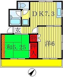 ハイツヤナギ[2階]の間取り