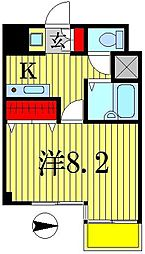 ヤサカハイム北小金[6階]の間取り