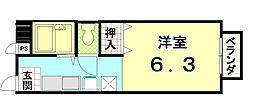 ファミールTouji-inn[102号室]の間取り