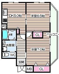 Luna crescente Tenjin Residence[3階]の間取り