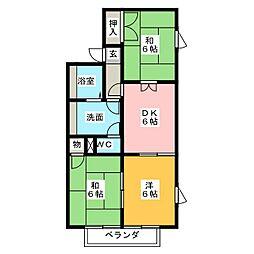 ドエリング栄 B棟[2階]の間取り