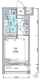 JR山手線 田町駅 徒歩13分の賃貸マンション 3階1Kの間取り