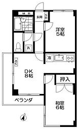 第2堤方マンション[3階]の間取り