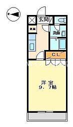 岡山県倉敷市吉岡丁目なしの賃貸アパートの間取り