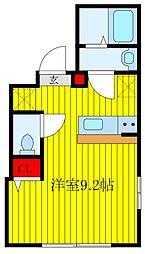JR京浜東北・根岸線 王子駅 徒歩10分の賃貸マンション 2階ワンルームの間取り