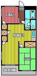 新田第5ハイツ[4階]の間取り