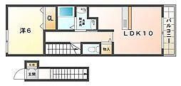 ローザアルベロA・B棟[2階]の間取り