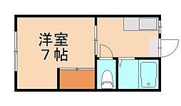 ハイツタカハシ[1階]の間取り