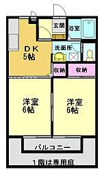 アークサキノミヤA[201号室]の間取り
