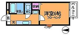 東京都三鷹市中原1丁目の賃貸アパートの間取り