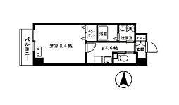 オアシス梅田[0603号室]の間取り