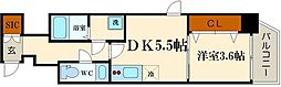 エステムコート南堀江IIIチュラ[11階]の間取り