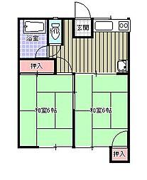 松本ハイツ[2階]の間取り