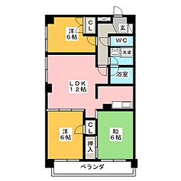 三鈴シティ[5階]の間取り