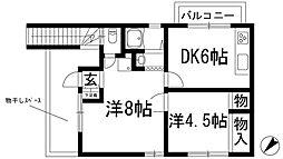 [テラスハウス] 兵庫県川西市錦松台 の賃貸【/】の間取り