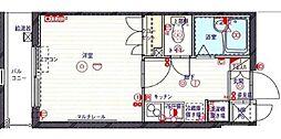 クレイシア北新宿[207号室]の間取り